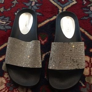 Dune London sparkly slides
